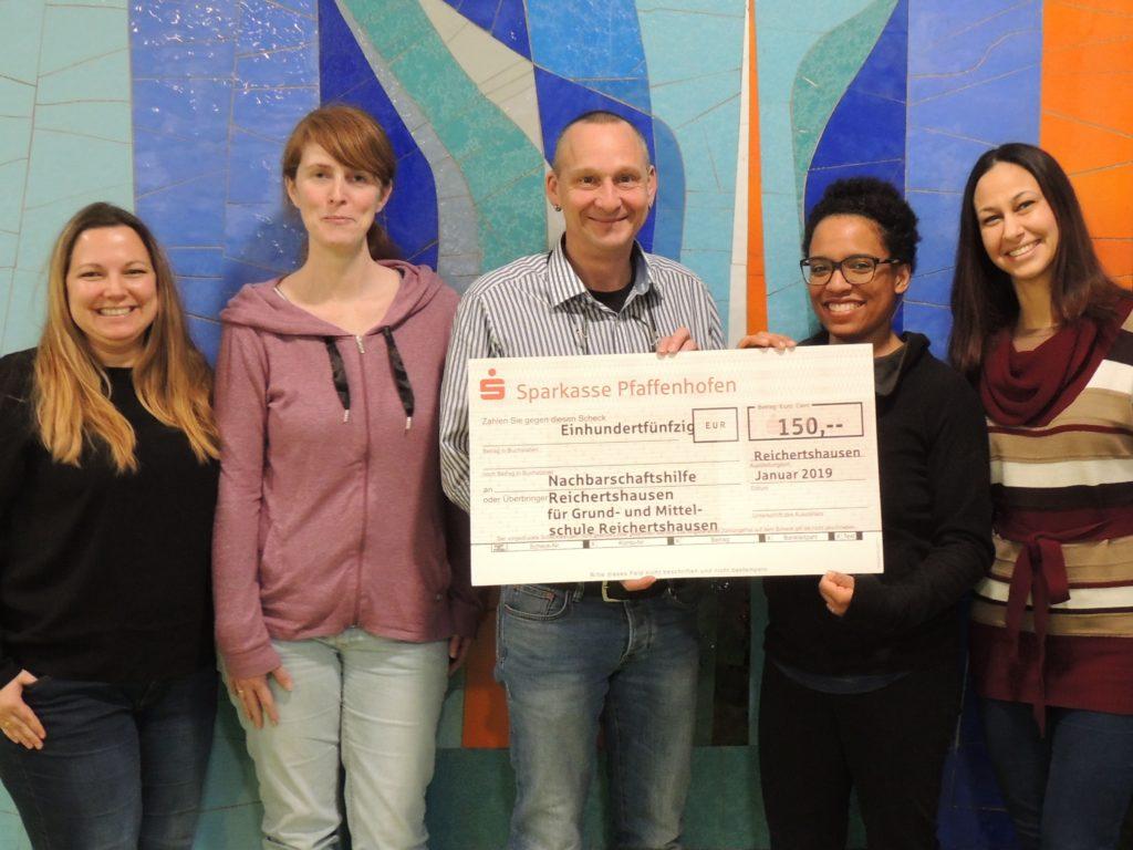 Spende an den Foerderverein der Grund- und Mittelschule Reichertshausen